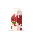 vegan hazelnut plant based milk in paper package vector image