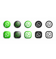 whatsapp modern 3d and flat icons set vector image