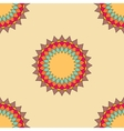 Round ornament seamless pattern spirograph vector image
