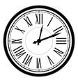 vintage dial clock with roman numerals vector image