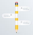 creative template with pencil banner flow chart vector image