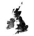 uk eroded vector image