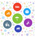 7 delivery icons vector image vector image