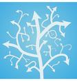 Abstract arrow tree vector image vector image