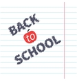 Back to school chalk text on paper sheet vector image
