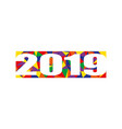 banner on new year 2019 in flat style vector image