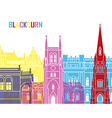 Blackburn skyline pop vector image vector image