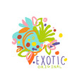 bright scribble exotic logo design for tourist vector image vector image