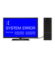 broken desktop computer error screen vector image vector image