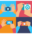 cameras and mobile photography vector image vector image