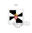 Ceuta Flag Postage Stamp vector image vector image