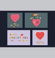 collection of colorful greeting cards - doodle vector image