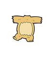 comic cartoon teddy bear body vector image vector image
