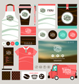 concept for coffee shop identity mock up template vector image
