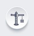 construction crane icon vector image vector image
