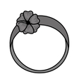 cute female headband icon vector image