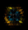dark black blurry triangle pattern modern vector image