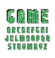 decorative sanserif font with effect volume vector image