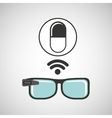 digital glasses wifi medical medication pill vector image