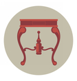 Digital red vintage table isolated vector image vector image