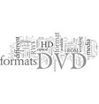 dvd formats differences you need to know vector image vector image