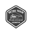 emblem template with vintage train design element vector image vector image