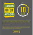 fantastic offer -40 page on vector image vector image