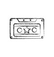 figure old cassette retro object stereo vector image vector image