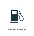 filling station icon monochrome style design from vector image