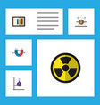 flat icon science set of irradiation diagram vector image