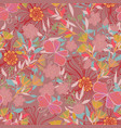 floral seamles pattern vector image vector image