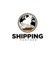 freight forwarding services throughout world vector image