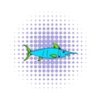 Fresh fish icon comics style vector image vector image