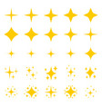gold stars sparkle glitter symbols vector image