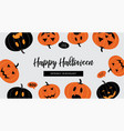 halloween sale banner website spooky header or vector image vector image