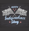 happy independence day fourth of july vintage vector image