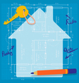 Happy Planning of a Future Family Home vector image