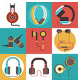 headphone seamless pattern headset vector image