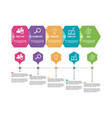 infographic label template with icons and 5 vector image vector image