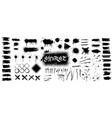 ink splashes stencil grunge vector image vector image