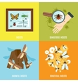Insects Flat Set vector image vector image