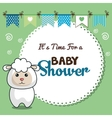 invitation baby shower card with sheep desing vector image