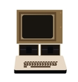 Isolated retro computer vector image vector image