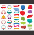 labels stickers banners tag retro colorful design vector image vector image