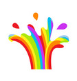 lgbt splashing fountain rainbow symbol icon gay vector image