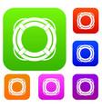 lifebuoy set color collection vector image vector image