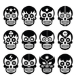 Lucha Libre - Mexican sugar skull masks black icon