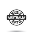 made in australia stamp on white background vector image vector image