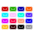 mail icons set envelope sign color email vector image