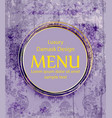 menu ornamented background royal luxury vector image vector image